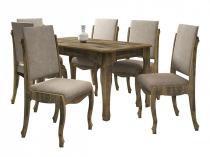 Mesa de Jantar com 6 Cadeiras Ônix Amadeirado - RV Móveis - RV Móveis