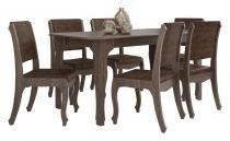Mesa de Jantar com 6 Cadeiras Ônix Terrarum - RV Móveis - RV Móveis