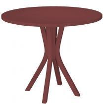 Mesa de Jantar com Tampo Felice Maxima Vermelho - Maxima