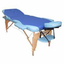 Mesa de Massagem Maca Portátil Fidler 3 Seções - Azul com Celeste - Fidler
