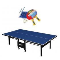64170ac65 Mesa De Ping Pong Oficial Articulada com Rede E Raquete 1084 - Klopf -