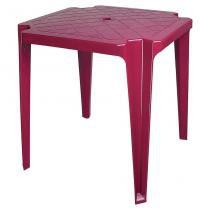 Mesa de Plástico Monobloco Vinho Antares -