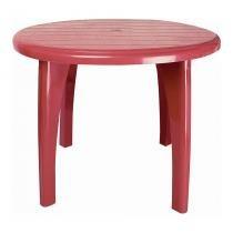 Mesa de Plástico Redonda desmontável Vinho Antares -