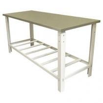 Mesa de servico com tampo inox 180x70 cm - itajobi - Itajobi fogões