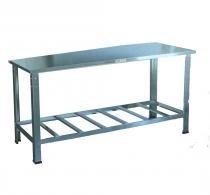 Mesa de Serviço Inteira em Aço Inox - 150CM - Cristal aço