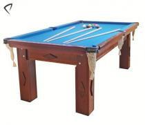 Mesa de Snooker Mogno com Pedra Ardósia Tecido Azul - Procópio - Procópio