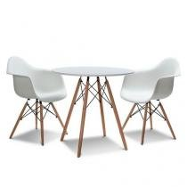 Mesa Eames ø 0,70 MDF Branco Original Entrega byartdesign -