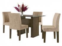 Mesa Europa RV com 4 Cadeiras Europa - Imbuia - Rv móveis