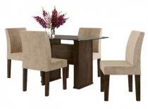 Mesa Europa RV com 4 Cadeiras Europa - Noce - Rv móveis