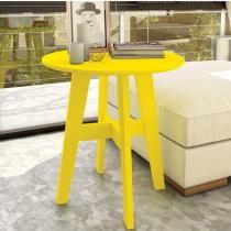 Mesa Lateral Bay Lider Design Amarelo - Caemmun