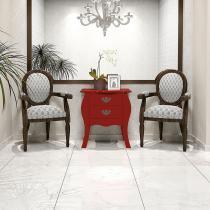 Mesa Lateral Premier Vermelho com Brilho Patrimar -