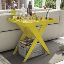 Mesa Lateral Sweet Lider Design Amarelo - Caemmun
