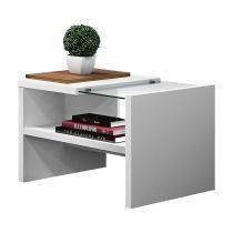 Mesa Lateral Tâmisa Branco e Amêndoa - Olivar móveis