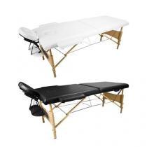 Mesa Maca de Massagem Estética Dobrável Portátil com Orifício - Preto - Tander