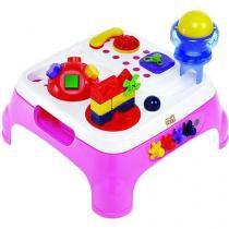 Mesa maxi atividades com som rosa magic toys 1070l -