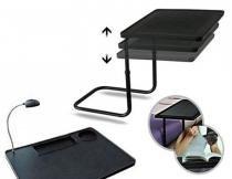 Mesa Notebook Multifuncional Luz Led Ajustavel Porta Copo Dobravel Retratil (BSL-23521-9) - Braslu