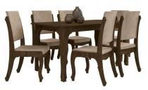 Mesa Onix II RV com 6 Cadeiras Onix - Noce - RV Móveis