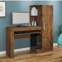 Mesa para Computador 1 Armário e Prateleira Office Valdemóveis Ipê -