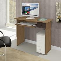 Mesa para computador 1 gaveta dalian canaleto/wenguê - mavaular - Mavaular moveis