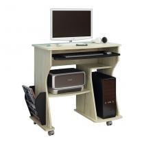 Mesa para Computador 160 com Rodizío Capuccino e Preto - Artely