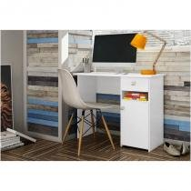 Mesa para Computador com 01 Gaveta Colegial MC7007 Branco - Art in Móveis -