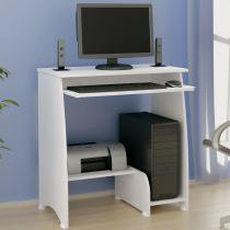 Mesa para Computador com 3 Prateleiras Pixel Artely Branco - Artely