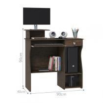 Mesa para Computador Marina - Imbuia - Patrimar