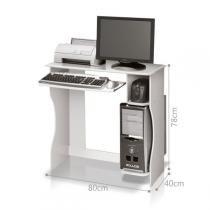 Mesa para Computador Office Livia - Branco - EDN Móveis