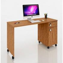 Mesa para Computador Office Malta Amendoa - Móveis Lukaliam -