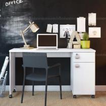 Mesa para Computador Office Malta Branco - Móveis Lukaliam -