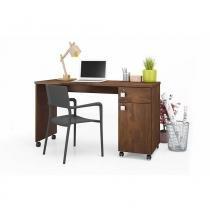 Mesa para Computador Office Malta Canela - Móveis Lukaliam -