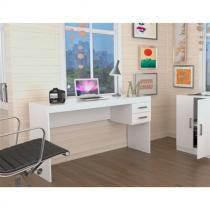 Mesa para Escritório com 2 Gavetas Office Plus Appunto - Branco -