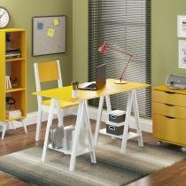 Mesa para Escritório Madesa Tutti Colors 5315 Amarelo -