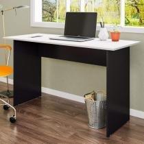 Mesa para Escritório Retangular Pé Painel 135cm Gebb Work Preto/Cinza -