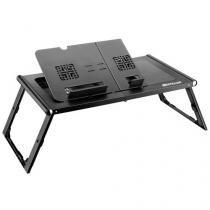 Mesa para Notebook com Cooler Duplo Dobrável - Com Mousepad Acoplado Multilaser AC131