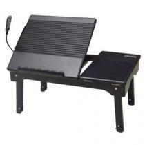 Mesa para Notebook com Hub USB 4 Portas + Luminária Leadership 9105 - Preto - Leadership
