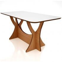 Mesa para Sala de Jantar TM46 180cm Freijó/Off White - Dalla Costa -