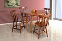 Mesa redonda madeira macica 4 cadeiras - Scholl