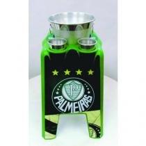 Mesa serve bebidas pratico cooler verde kit aluminio palmeiras - Ibap
