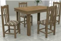 Mesa Verona Tampo MDF 4 Cadeiras Rubi Meneghetti Inovata -