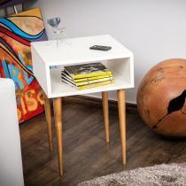 Mesinha Lateral Slim Branco - Estilare móveis