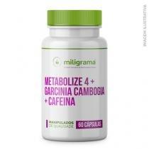 Metabolize 4 300mg + Garcínia Cambogia 500mg + Cafeína 100mg - Miligrama