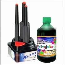 (metiq) kit c/3 pinceis + tinta cartazista.com 500ml (unidade) (cores) -