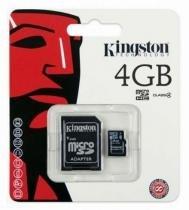 Micro Cartão de Memória Kingston 4GB com Adaptador - Kingston