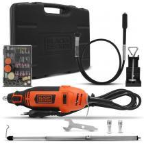 Micro Retífica Black+Decker Multiuso 180W 220V Laranja e Preto 113 Acessórios Maleta - Black + Decker
