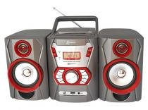 Micro System com Rádio FM Estéreo, CD Player, MP3, entrada auxiliar e USB Lenoxx -