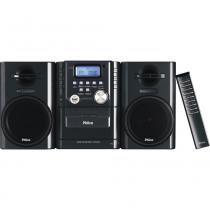Micro System MSP211N Deck p/ Fita Cassete, Reproduz CD/MP3, Entradas USB e Auxiliar, Rádio AM/FM, 12W RMS - Philco -