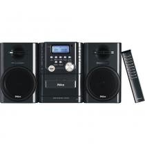 Micro System Philco MSP211N Preto, 12W RMS, USB, CD/MP3, Rádio AM/FM - Com Deck Para Fita Cassete -