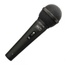 Microfone com Fio 3 Metros Metal Preto M-K5 - MXT - MXT