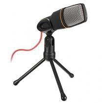 Microfone condensador para karaoke gravação skype pc com cabo e tripe com redutor de ruidos plug and - Gimp